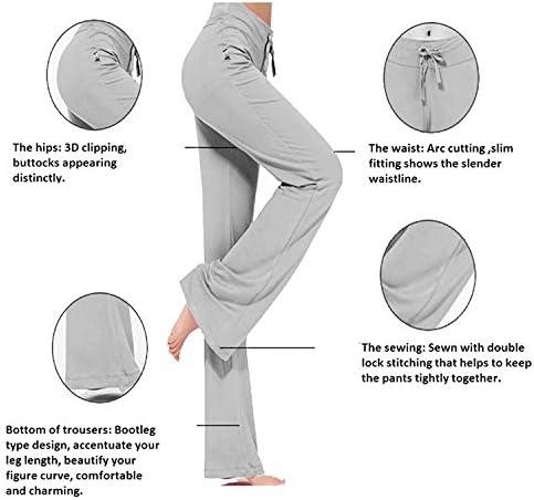 TownCat Womens Modal Pants Comfy Straight Sleek-fit Slacks Soft Yoga Pants