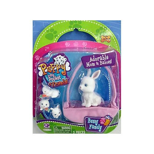 Puppy in My Pocket & Friends Bunny Family - Ivory