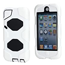 MaryJane New Survivor Impact Hybrid Hard Case for iPod Touch 5 with Screen Protector, Black/White