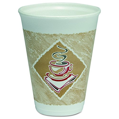 Dart 12X12G 12 oz Cafe G Foam Cup (Case of 1000)