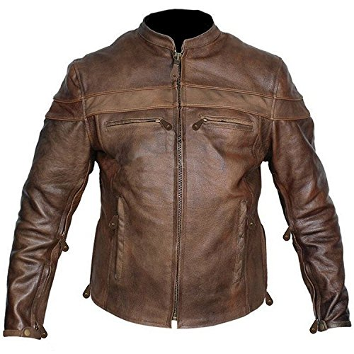 Distressed Red Brown Uomo Smoke Piumino Giacca nqpTS