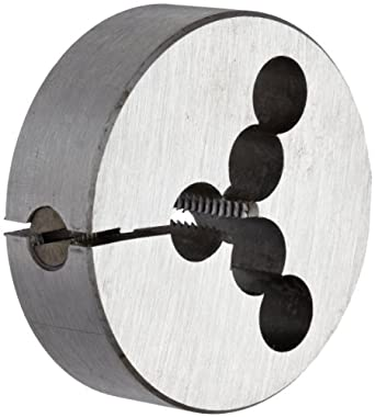 """Union Butterfield 2010(UNC) Carbon Steel Round Threading Die, Uncoated (Bright) Finish, 2"""" OD, 1/4""""-20 Thread Size"""