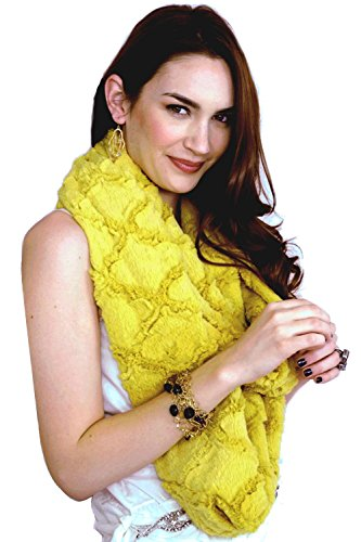 "Tourance Women's Long Scarf 90"" x 7"" Antique Mustard (Yellow)"