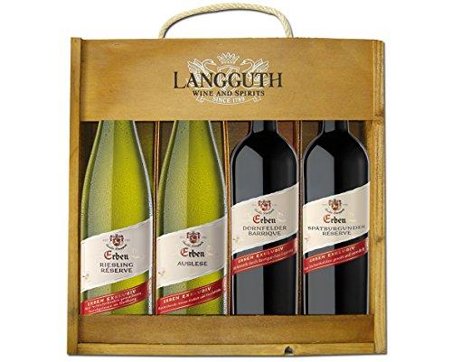 Erben Weinpaket mit Holzkiste (4 x 0.75 l)