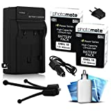 (2 Pack) PhotoMate EN-EL15 Ultra High Capacity Rechargable Battery, Charger, Cleaning Kit, Mini Tripod for Nikon D600, D610, D750, D800, D800E, D810, D7000, D7100, 1 V1, 1V1 DSLR Digital Camera