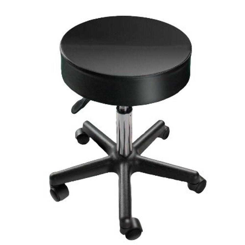 Swivel Stool with Wheels Chair Metal Swivel Task Stool Modern Upholstered Small Portable Vanity Rolling Adjustable & e Book by AllTim3Shopping