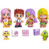 Pinypon - 700012060 - Mini Poupée - Coffret de 4 Figurines City