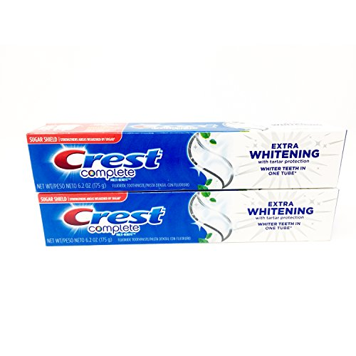 Toothpaste Mint Clean Whitening Extra (Crest Complete Multi-Benefit Extra Whitening Toothpaste, Value Pack, Clean Mint, 2 tubes 6.2 oz)