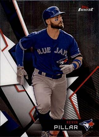 e00c8e01177 Amazon.com  Baseball MLB 2018 Finest  42 Kevin Pillar  42 NM+ Blue ...
