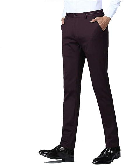 Yaxuan Pantalones De Traje De Hombre Pantalones De Vestir De Negocios Delgados Para Hombres Pantalones Rectos Ocasionales Clasicos Para Hombres Pantalones De Boda Formales Para Hombres C 29 Amazon Com Mx Jardin