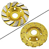 """Ocr TM 4"""" Concrete Turbo Diamond Grinding Cup Wheel for Angle Grinder 12 Segs Heavy Duty"""