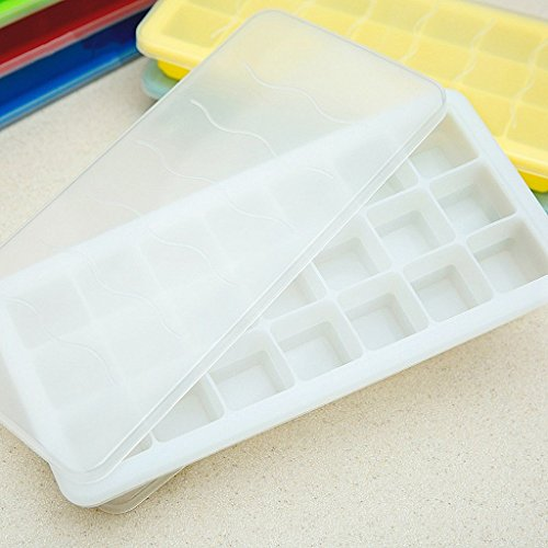 Silicone Ice Lattice,Chickwin Creative Silicone Ice Lattice Ice Cream Popsicle Mold Ice Mold Non-Toxic Baby Food Mold (White) (Gift Set Ice Meltdown)
