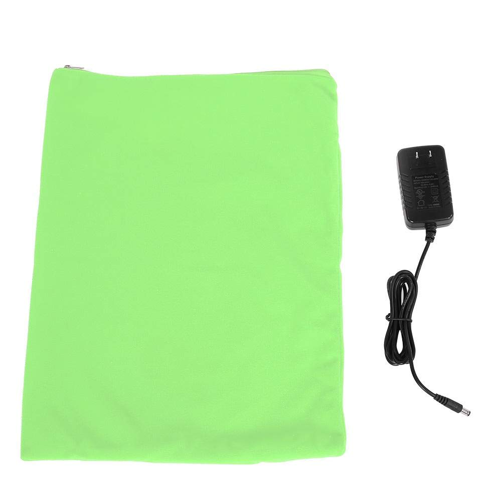 Green Pet Heating Pad,Safe Slow Heating and Equalization Heat Transfer,IP67 Waterproof and Dustproof Design,for Dogs and Cats Indoor Warming (Green)