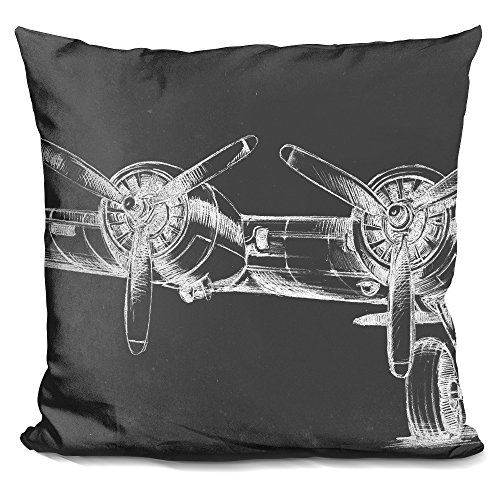 (LiLiPi Graphic Plane Triptych I Decorative Accent Throw Pillow)