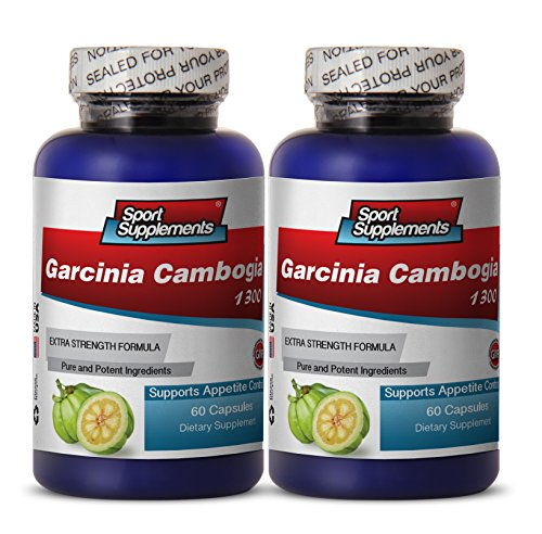 PURE GARCINIA CAMBOGIA PREMIUM EXTRACT 1300 - Fat burner for women weight loss - 2 Bottles 120 Capsules