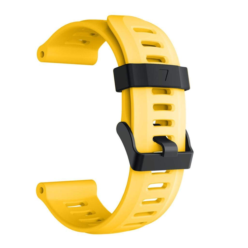 For Garmin Fenix 5X Plus,KFSO Soft Silicone Strap Replacement Watch Band (Yellow)