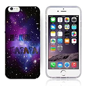 Africa Ancient Proverb HAKUNA MATATA Color Accelerating Universe Star Design Pattern HD Durable Hard Plastic Case Cover for iPhone 6 Plus