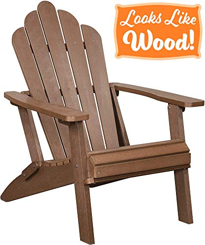 Amazon Com Polyteak Seashell Oversized Folding Adirondack