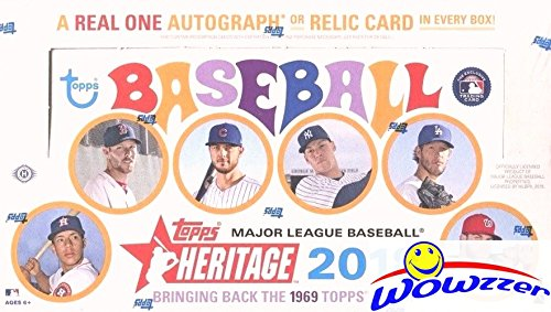 (2018 Topps Heritage Baseball HUGE Factory Sealed 24 Pack HOBBY Box with AUTOGRAPH or MEMORABLIA Card & BOX LOADER! Look for SHOHEI OTHANI Rookie's & Auto's!)