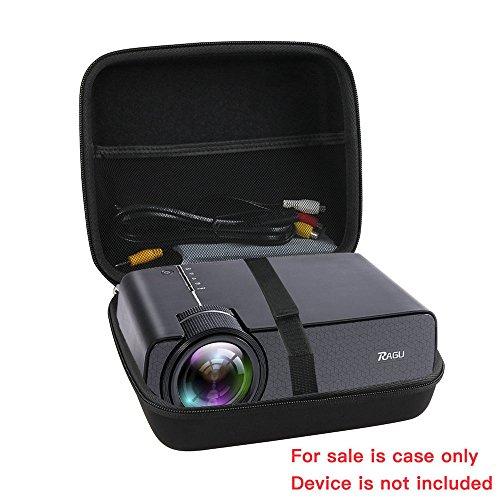 Hard Travel Case for RAGU Z400 1600 Lumens Mini Portable Projector by Hermitshell
