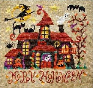 Happy Halloween Counted Cross Stitch,14ct 98x95stitch 28x27cm Cross Stitch Kits ()