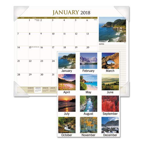 AT-A-GLANCE - Scenic Monthly Desk Pad Calendar, 22 X 17, 2018 (AAGDMD11032) (DMD11032)