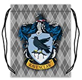 Harry Potter Ravenclaw? Pattern Polyester Fabric Basketball Drawstring Bags Backpack Drawstring Tote