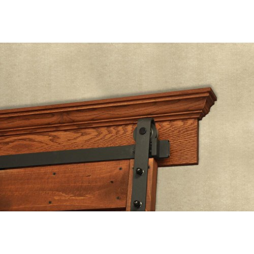 Pinecroft 3 in. x 7.5 in. x 88 in. Unfinished Oak Crown Barn Door Mounting Board