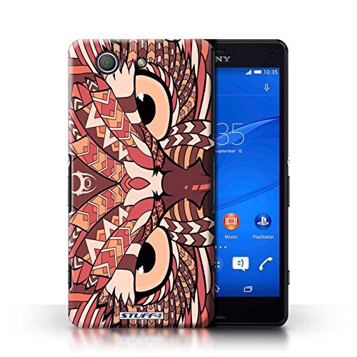 Kobalt® Imprimé Etui / Coque pour Sony Xperia Z3 Compact / Hibou-Rouge conception / Série Motif Animaux Aztec