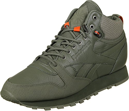 Reebok Scarpe Hunter Leather Da Mid Cl Uomo Fitness Green Twd 6wqgrwI