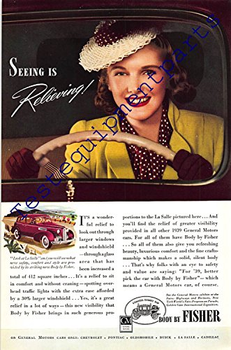 - Print Ad 1939 Car with Body by Fisher - General Motors
