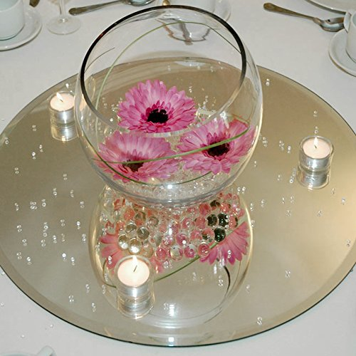 Round Mirror Base Centerpiece, 6-pack, CASE BULK (12'') by Firefly Imports (Image #2)