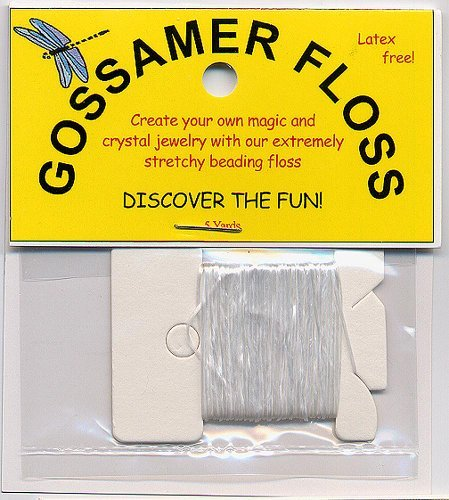 Creatives White Gossamer Floss Thread Beading Cord, 0.5mm, 5yds