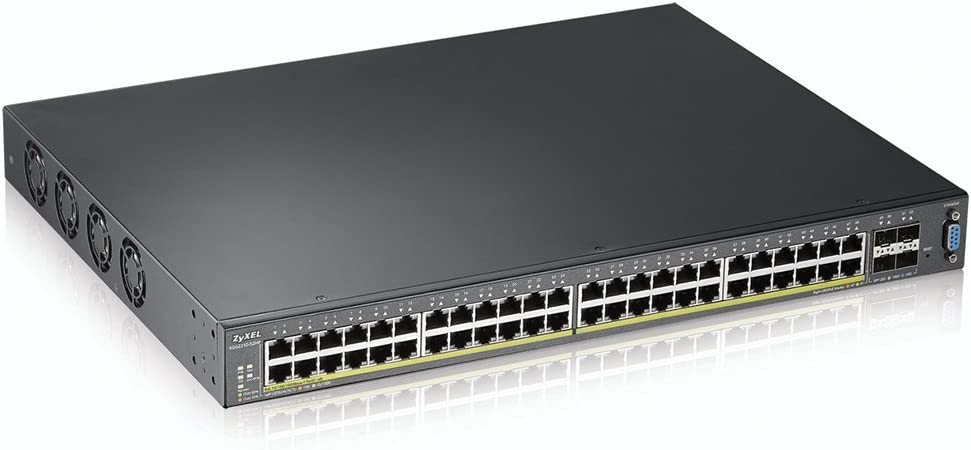 48-port GbE L2 PoE Switch with 10GbE Uplink Zyxel XGS2210-28HP