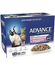 ADVANCE 1+ Years Adult Cat Multi Pack Tender Chunks in Jelly 12x85g (CA85ACMPTCJ12X85)