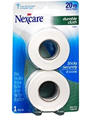 Nexcare Durable Cloth Carded 1-Inch Wide First Aid Tape, 10-Yard Roll, 2-Count Packages, 6 Rolls Total