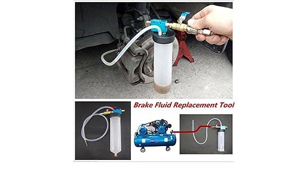 Coche & camión sistema de frenos Líquido sangrado Kit de herramientas hidráulico del embrague herramienta de un hombre de aceite vacío equipo de ...