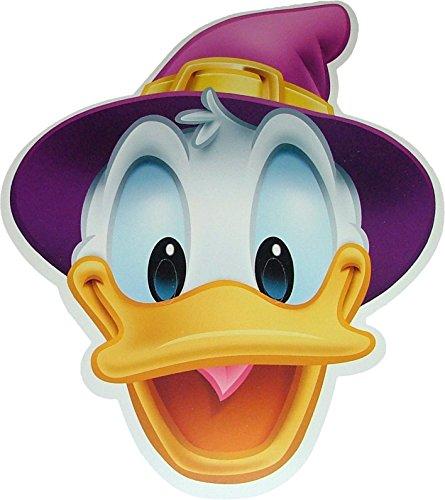Disney Halloween Donald Duck Wizard - Card Face Mask - Licensed (Donald Duck Halloween Mask)