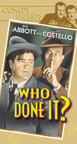 Who Done It [VHS] -