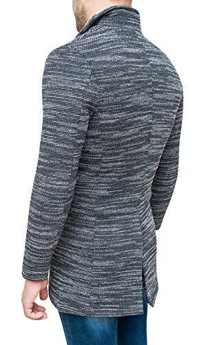 Fit Grigio Elegante Slim Cappotto Nero Soprabito Sartoriale Invernale Tweed Uomo OYWWTng8