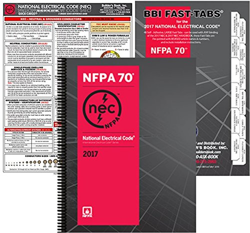 NFPA 70 Spiral: National Electrical Code (NEC), Spiralbound, Fast Tabs and NEC Quick Card, Set, 2017 Editions by NFPA-BB