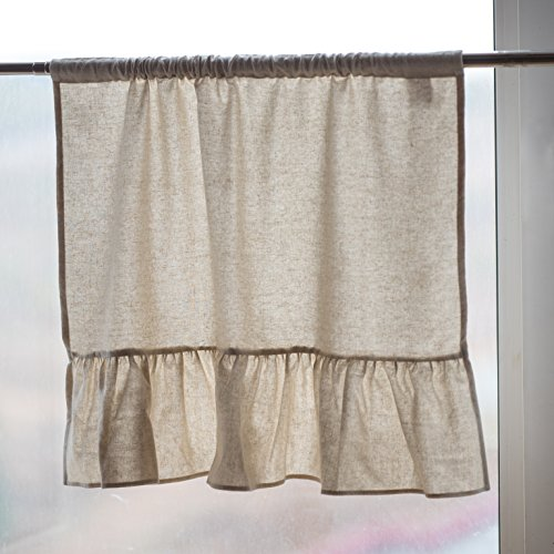 PEAKTIME Linen Window Privacy Kitchen Curtains Semi-Sheer Cafe Curtains Half Window Curtain Drapes (Linen, 56 INCH X 36 INCH) Review