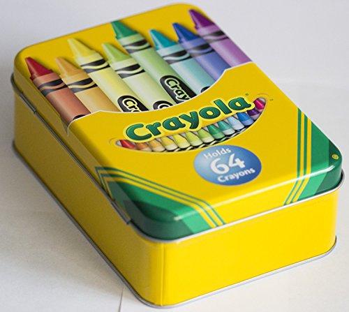 Crayola Tin Crayon Box, Holds 64 Crayons, 6