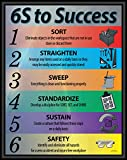 6S to Success Lean Poster, Version 3, 16' X 20' Framed, Made in The USA