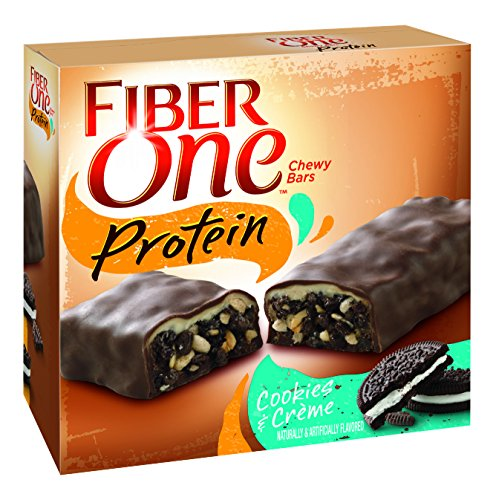Fiber One Protein Chewy Bar Cookies and Crème 5 - 1.17 oz Bars (Bar Creme Cookies Protein)