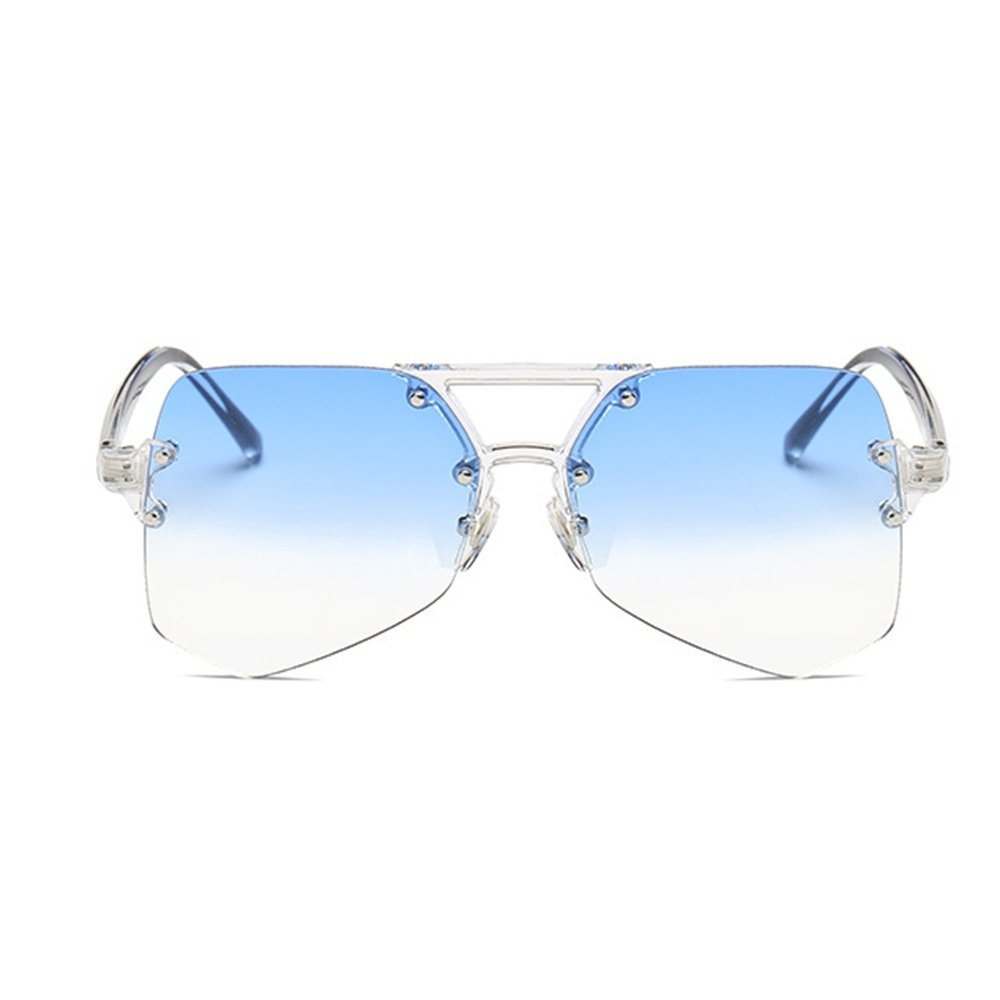 Personalidad transparente gafas de de sol sin marco transparente ...