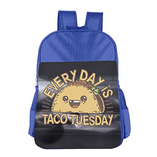 Mokjeiij EVERY DAY IS TACO TUESDAY Unisex Girls Boys School Backpack Children's
