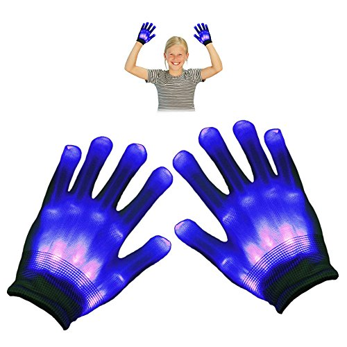 Glove Dye (TOP Gift LED Flashing Gloves - Novelty Toys - Best Gifts (Light Blue))