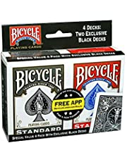 Save on Bicycle Standard Index (4 Pack, Black/Red). Discount applied in price displayed.