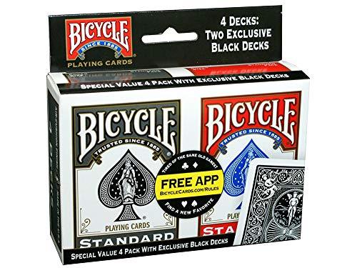 Paquete de 4 tarjetas de juego de bicicletas - Índice estándar